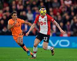 SOUTHAMPTON, ENGLAND - Sunday, February 11, 2018: Southampton's Pierre-Emile Hojbjerg during the FA Premier League match between Southampton FC and Liverpool FC at St. Mary's Stadium. (Pic by David Rawcliffe/Propaganda)