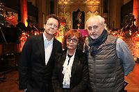 Simon Mayo, Audrey Hoare and Nick Allot attend the Nordoff Robbins Carol Service 2019, St Luke's Church, Chelsea, London, UK, Tuesday 10 December 2019<br /> Photo JM Enternational