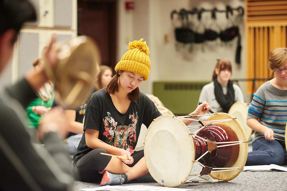 -UWL UW-L UW-La Crosse University of Wisconsin-La Crosse; Band; Candid; Center for the ArtsCFA; day; Diversity; Group; Inside; November; Student students; Woman women