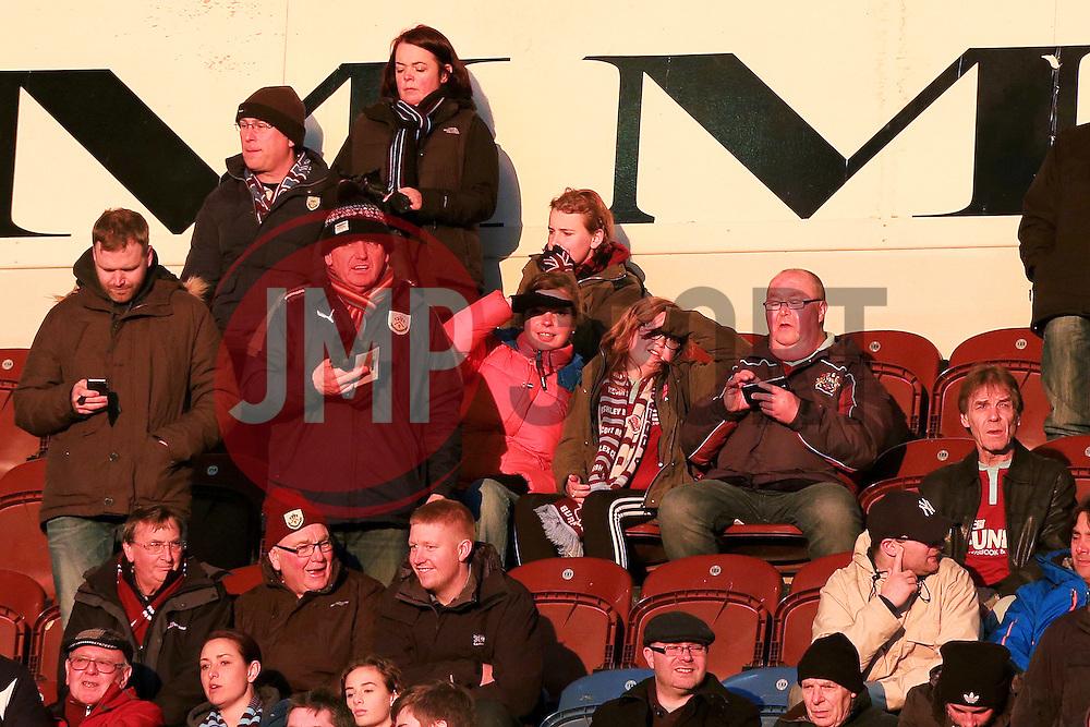 Burnley fans enjoy the sunset before kick off - Mandatory by-line: Matt McNulty/JMP - 05/04/2016 - FOOTBALL - Turf Moor - Burnley, England - Burnley v Cardiff City - SkyBet Championship