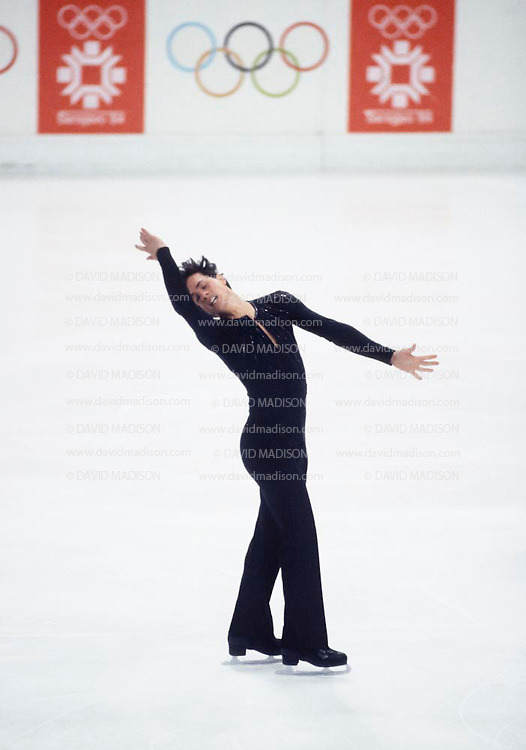 SARAJEVO, YUGOSLAVIA -  FEBRUARY 1984:  Brian Boitano of the USA skating in the Men's figure skating competition of the 1984 Winter Olympics held at the Zetra Ice Hall in Sarajevo, Yugoslavia in February, 1984.  Boitano finished fifth in the competition.   (Photo by David Madison/Getty Images) *** Local Caption *** Brian Boitano