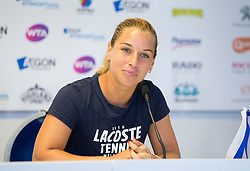 Dominika Cibulkova of Slovakia talks in a press conference after winning the Aegon International Eastbourne tennis tournament  - Mandatory by-line: Paul Terry/JMP - 25/06/2016 - TENNIS - Devonshire Park - Eastbourne, United Kingdom - Dominika Cibulkova v Karolina Pliskova - Aegon International Eastbourne