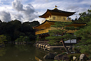 The Golden Pavillion, or Kinkaku-ji (officially named Rokuon-ji), is a Zen Buddhist temple in Kyoto.The garden complex is considered a classic example of The Muromachi period, the zenith of Japanese garden design.