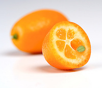 Kumquat on white background - studio shot