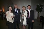 Sir Evelyn and Lady de Rothschild and John Studzinski, VIP opening of Bill Viola exhibition Love/Death: The Tristan project. Haunch of Venison, St Olave's College, Tooley St. London and Dinner afterwards at Banqueting House. Whitehall. 19 June 2006. ONE TIME USE ONLY - DO NOT ARCHIVE  © Copyright Photograph by Dafydd Jones 66 Stockwell Park Rd. London SW9 0DA Tel 020 7733 0108 www.dafjones.com
