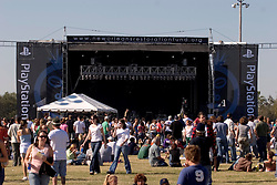 29 Oct, 2005.   New Orleans, Louisiana. Post Katrina.<br />  Let the good times roll. Voodoo Fest tribute concert at Riverview Park. <br /> Photo; ©Charlie Varley/varleypix.com