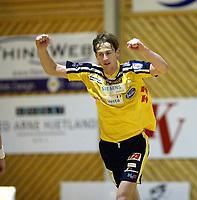 Håndball, 11. desember 2002. Eliteserien, Gildeserien herrer, Kragerø - Stord 25-32. Stig Gurrich , Kragerø