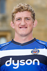 Stuart Hooper (captain) of Bath Rugby poses for a head shot at the club's training ground - Photo mandatory by-line: Rogan Thomson/JMP - 28/08/2014 - SPORT - RUGBY UNION - Farleigh House, Bath - Bath Rugby Media Day 2014/15 - Aviva Premiership.