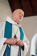 NORTH LAKE, WI — JANUARY 18, 2015:  Reverend David Couper delivers the homily during mass at St. Peter's Episcopal Church, Sunday, January 18, 2015.