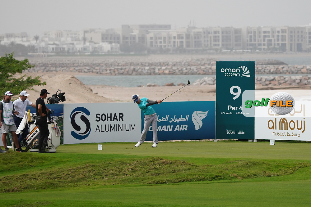 Scott Vincent (ZIM) on the 9th during Round 1 of the Oman Open 2020 at the Al Mouj Golf Club, Muscat, Oman . 27/02/2020<br /> Picture: Golffile | Thos Caffrey<br /> <br /> <br /> All photo usage must carry mandatory copyright credit (© Golffile | Thos Caffrey)
