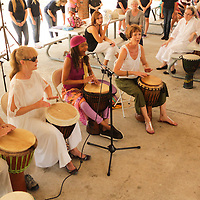 Drummers perform Sunday September 21, 2014 during a celebration of International Day of Peace sponsored by Grandmothers for Peace at Hugh MacRae Park in Wilmington, N.C. (Jason A. Frizzelle)