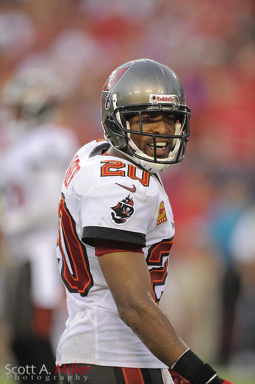 Tampa Bay Buccaneers cornerback Ronde Barber (20) during the Bucs game against the Carolina Panthers at Raymond James Stadium  on September 9, 2012 in Tampa, Florida.  The Bucs won 16-10..©2012 Scott A. Miller...