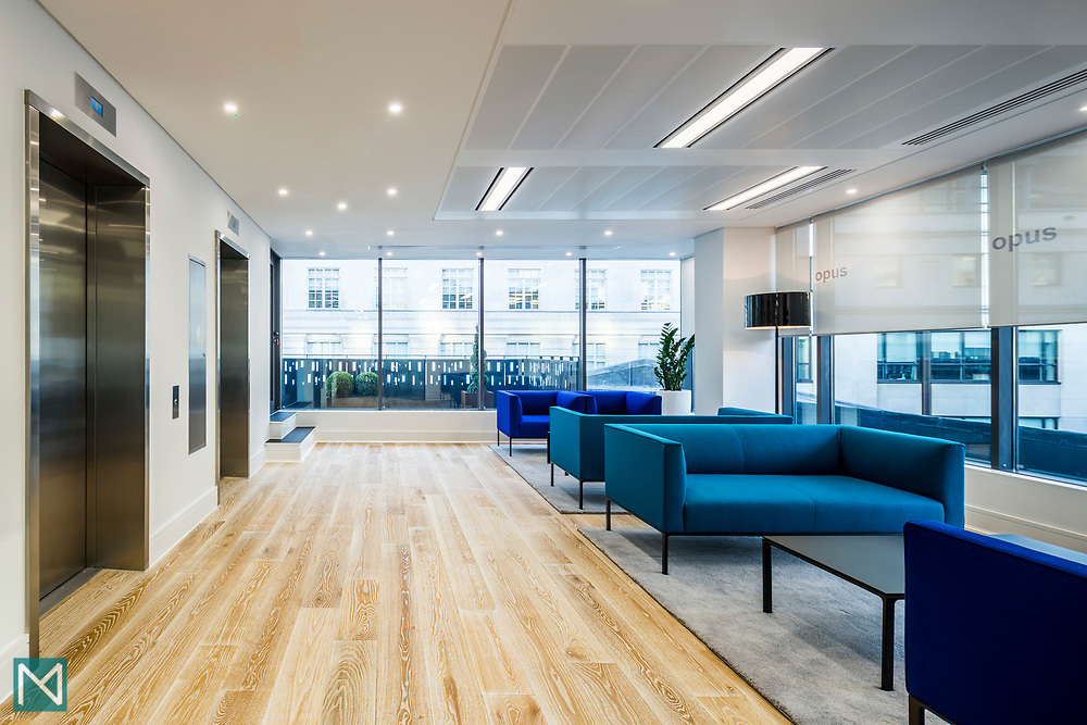 Offices of Opus Corporate Finance, London, for commercial design consultants Burtt-Jones and Brewer