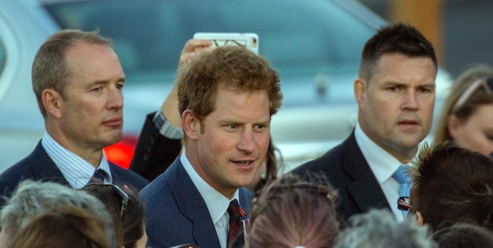 Prince Harry mingles with the crowd after a wreath laying ceremony at Pukeahu War Memorial Park, Wellington, Saturday, May 09, 2015. Credit:SNPA / Derek Quinn