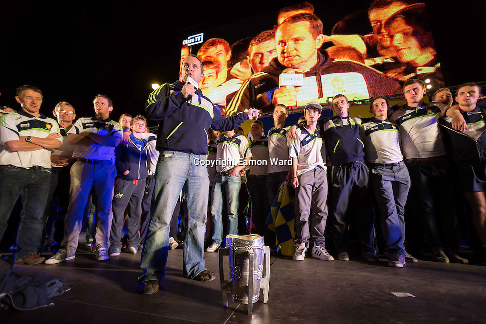 Homecoming in Ennis for Clare's All Ireland winning hurling teams. Photograph by Eamon Ward