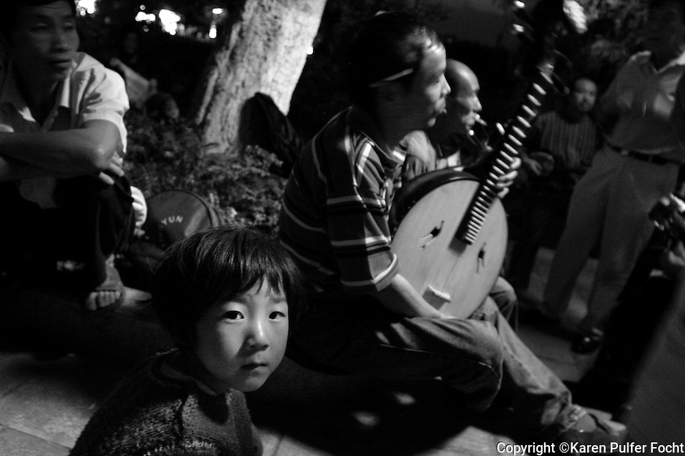 Music in the park, Kunming, China