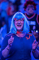 OKLAHOMA CITY, OK - APRIL 21: Fan of the Oklahoma City Thunder before a game against the Portland Trail Blazers during Round One Game Three of the 2019 NBA Playoffs on April 21, 2019 at Chesapeake Energy Arena in Oklahoma City, Oklahoma  NOTE TO USER: User expressly acknowledges and agrees that, by downloading and or using this photograph, User is consenting to the terms and conditions of the Getty Images License Agreement.  The Trail Blazers defeated the Thunder 111-98.  (Photo by Wesley Hitt/Getty Images) *** Local Caption ***