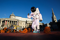 EDITORIAL USE ONLY<br /> London&rsquo;s Trafalgar Square has been turned into a Martian landscape, featuring the Mars Rover prototype &lsquo;Bridget&rsquo;, to mark the launch of new National Geographic television series &lsquo;MARS&rsquo;. PRESS ASSOCIATION Photo. Picture date: Monday November 7, 2016. The 400 square metre replica landscape, using imagery from the surface of Mars was constructed on Trafalgar Square, complete with chasms, craters and canyons. To complete the transformation into the Red Planet, specialist designers meticulously created 3D fibreglass rock sculptures to replicate the Martian surface geology. The new six-part series airing from November 13th, which has been produced by Academy Award- and Emmy-winning Brian Grazer, Ron Howard and Michael Rosenberg, follows a fictitious crew&rsquo;s mission to Mars in 2033 and combines unparalleled visual effects with present day documentary storytelling. Photo credit should read: Casey Gutteridge CPG_Campaign
