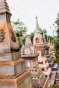 Temple stupas near Gecko Villa, Um Chan village, Udon Thani