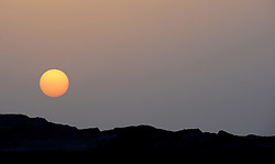 Image ©Licensed to i-Images Picture Agency. 15/06/2009.  The sunsets on Sir Bani Yas Island, in the United Arab Emirates, a former private nature reserve belonging to the late Sheikh Zayed, The founder of the United Arab Emirates , the Island  has been recently opened to the public and is the first safari in the United Arab Emirates.Picture by Andrew Parsons / i-Images