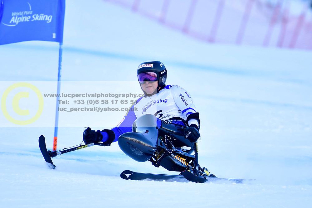 Super Combined and Super G, MORII Taiki, LW11, JPN at the WPAS_2019 Alpine Skiing World Championships, Kranjska Gora, Slovenia