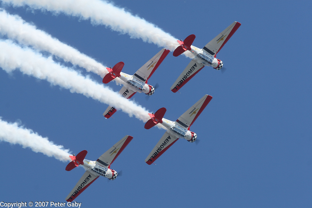 The AeroShell team at the 2007 EAA Airventure show in Oshkosh, WI.