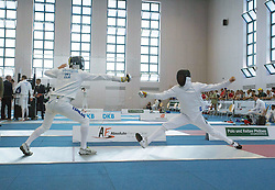 01.07.2015, Olympiapark, Berlin, GER, Moderner Fünfkampf WM, im Bild rechts Matthias Sandten, Verein Bonn // during Mens relay race of the the world championship of Modern Pentathlon at the Olympiapark in Berlin, Germany on 2015/07/01. EXPA Pictures © 2015, PhotoCredit: EXPA/ Eibner-Pressefoto/ Kleindl<br /> <br /> *****ATTENTION - OUT of GER*****
