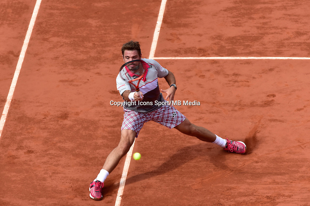 STANISLAS WAWRINKA   - 02.06.2015 - Jour 10 - Roland Garros 2015<br />Photo : David Winter / Icon Sport