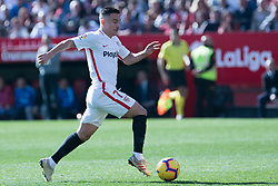 January 26, 2019 - Sevilla, Andalucia, Spain - Roque Mesa of Sevilla FC drive the ball during the La Liga match between Sevilla FC v Levante UD at the Ramon Sanchez Pizjuan Stadium on January 26, 2019 in Sevilla, Spain  (Credit Image: © Javier MontañO/Pacific Press via ZUMA Wire)
