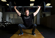 Cliff Schultz poses for photos at CrossFit 867 in Riverdale. The coach and athlete will be competing at the CanWest CrossFit Games in Coquitlam, B.C. from July 28-30.