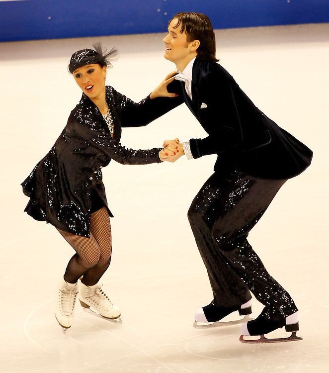 (Ottawa, ON---1 November 2008)  Kristina Gorshkova and Vitali Butikov compete in the Ice Dance original dance at the 2008 HomeSense Skate Canada International figure skating competition.  Photograph copyright Sean Burges/Mundo Sport Images (www.msievents.com).