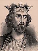 Edward I (1239-1307), king of England from 1272. Known as Edward Longshanks because of his above average height, and Hammer of the Scots because of his military campaigns against Scotland.  A member of the Plantagenet dynasty. Wood engraving c1900.