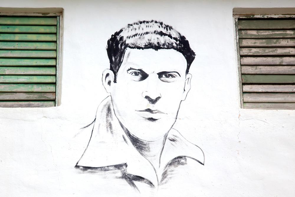 Revolutionary portrait in Tacajo, Holguin, Cuba.