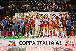 20-03-2016 ITA: Finale Coppa Italia A1 Foppapedretti Bergamo - Nordmeccanica Piacenza, Ravenna<br /> Foppapedretti Bergamo heeft met klinkende cijfers de Italiaanse beker binnengehaald. In Ravenna werd Piacenza met 3-0 verslagen / Team Bergamo<br /> <br /> ***NETHERLANDS ONLY***
