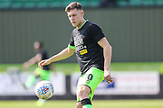 Forest Green Rovers Paul Digby(20) warming up during the EFL Sky Bet League 2 match between Forest Green Rovers and Cambridge United at the New Lawn, Forest Green, United Kingdom on 22 April 2019.