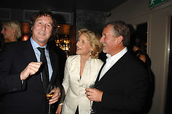 Left to right, TRISTRAN DAVIES, FIONA SHAKLETON and SIMON KELNER at a party to celebrate the publication of  'The Return of the Sloane Ranger' held at Kitt's, Sloane Square, London on 15th October 2007.<br />