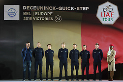 February 23, 2019 - Abu Dhabi, United Arab Emirates - Deceunnick - Quick - Step Team from Belgium, during the Team Presentation, at the opening ceremony of the 1st UAE Tour, inside Louvre Abu Dhabi museum..On Saturday, February 23, 2019, Abu Dhabi, United Arab Emirates. (Credit Image: © Artur Widak/NurPhoto via ZUMA Press)