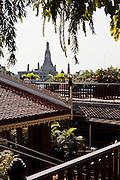 Riverside view of Wat Arun, temple of dawn. Chakrabongse Villas