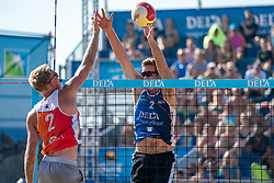 25-08-2019 NED: DELA NK Beach Volleyball, Scheveningen<br /> Last day NK Beachvolleyball / Stefan Boermans #2, Christiaan Varenhorst #2