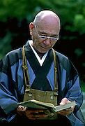 Image of a Buddhist monk at the Seiganto-ji Tendai Buddhist Temple in Wakayama Prefecture, Japan