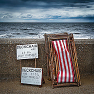 Deckchairs for Hire, Hunstanton, Norfolk, Britain - Aug 2010.