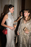 CHRISTINA JUFFALI; SONIA FALCONE, Dinner for Sonia Falcone to celebrate her participation in 56th Venice Biennale she represented Bolivia at the Pavilion of the Instituto Italo-Latinoamericano at the Arsenale. Dinner at the Ridotto Ballroom, Hotel Monaco and Grand Canal, Venice, Venice Biennale, Venice. 8 May 2015
