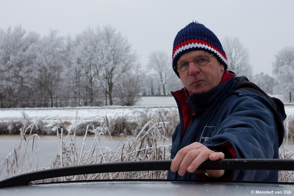 Rayonbeheerder Klaas Frieswijk van Wetterskip Fryslân.
