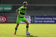 Forest Green Rovers Carl Winchester(7) during the EFL Sky Bet League 2 match between Exeter City and Forest Green Rovers at St James' Park, Exeter, England on 27 October 2018.