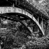 Beautiful stone bridge in Bali.