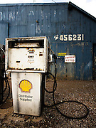 Petrol hasn't been pumped from this bowser in years!<br /> <br /> Located in the small township of Smeaton, about 30km North of Ballarat, this relic from a more prosperous era epitomises the decline of rural towns.<br /> <br /> Next to this old petrol station is the Cumberland Hotel, fully operational and the oldest weatherboard pub in Victoria.