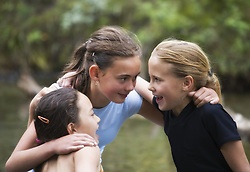 July 21, 2019 - Three Girls Talking (Credit Image: © Carson Ganci/Design Pics via ZUMA Wire)
