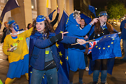 30/09/2017. Manchester, UK. Anti-Brexit, protesters gather outside the conference centre Manchester UK. and make their voice heard by performing satirical cabaret on the eve of the Tory Party Conference. Photo credit: Graham M. Lawrence/LNP