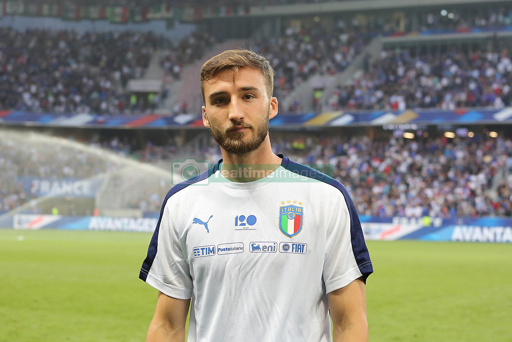 June 1, 2018 - Paris, Ile-de-France, France - Bryan Cristante (Italy) before the friendly football match between France and Italy at Allianz Riviera stadium on June 01, 2018 in Nice, France..France won 3-1 over Italy. (Credit Image: © Massimiliano Ferraro/NurPhoto via ZUMA Press)