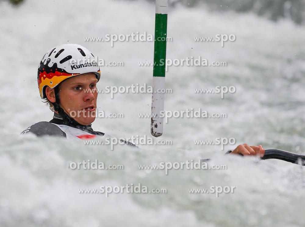 10.05.2012, Eiskanal, Augsburg, GER, ECA, Kanusalom Europameisterschaft, im Bild Paul BOECKELMANN (GER, K1), // during the ECA European Canoe Championships at the Ice channel, Augsburg, Germany on 2012/05/10. EXPA Pictures © 2012, PhotoCredit: EXPA/ Eibner/ Klaus Rainer Krieger..***** ATTENTION - OUT OF GER *****